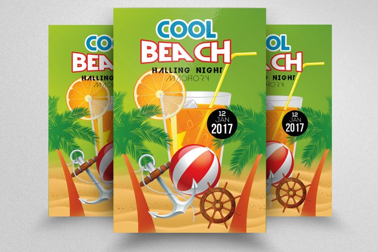 Summer Beach Music Party Flyer example image 1
