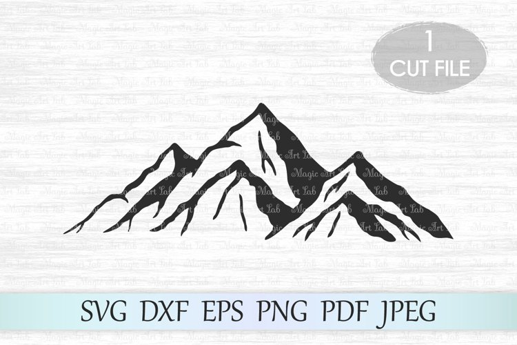 Mountain svg, Mountains svg file, Mountain clipart, Camping example image 1