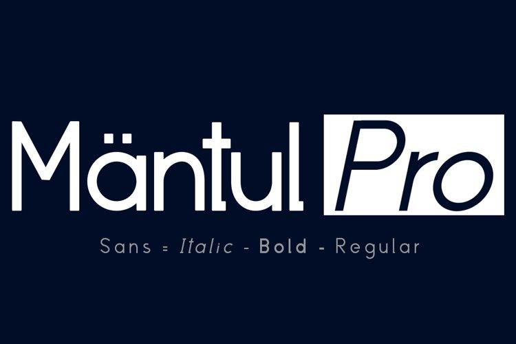 Mantul Pro - 19 Style font example image 1