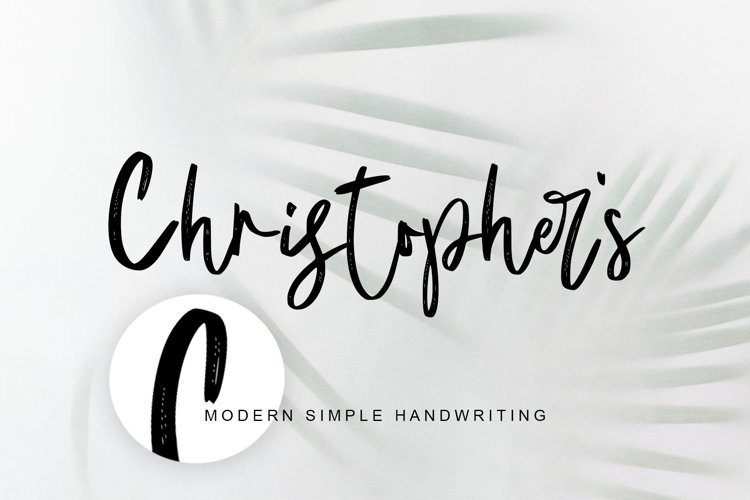 Christopher's handwriting example image 1