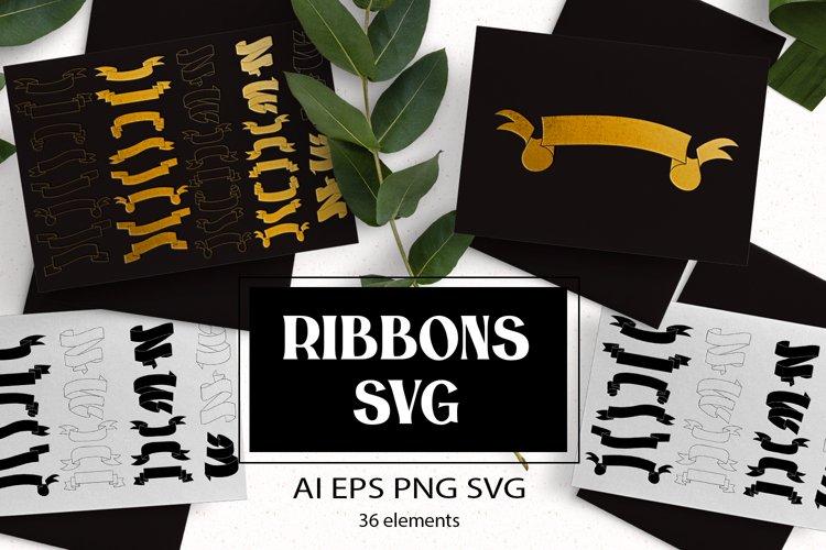 Ribbons SVG example image 1