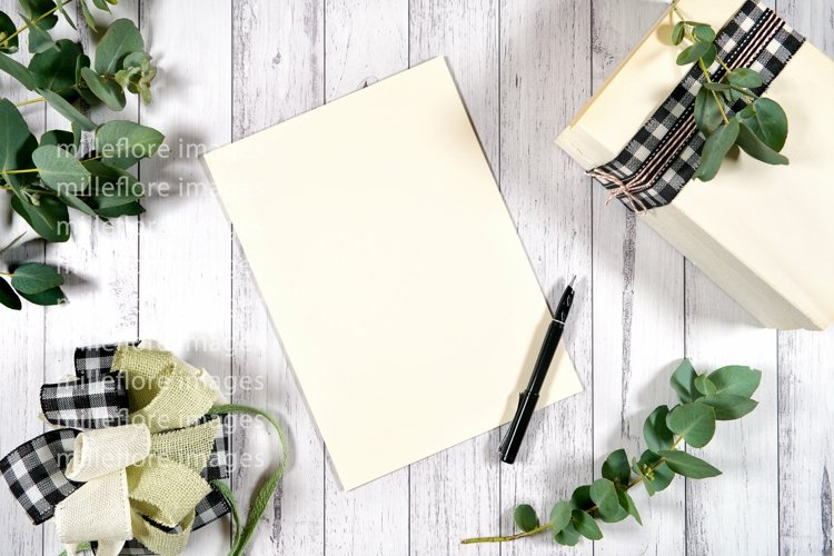Farmhouse Desktop Writer Paper Craft Styled Mockup Photo