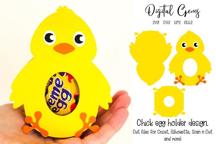 Chick Easter egg holder design SVG / DXF / EPS files example image 1