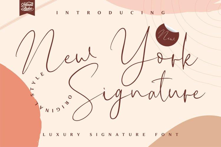New York Signature - Luxury Signature Font example image 1