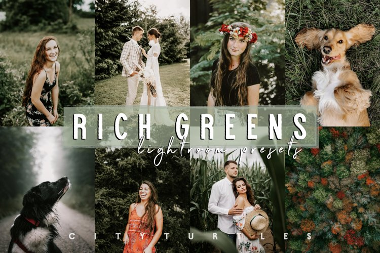 Moody RICH GREENS Outdoor Travel Nature Lightroom Presets