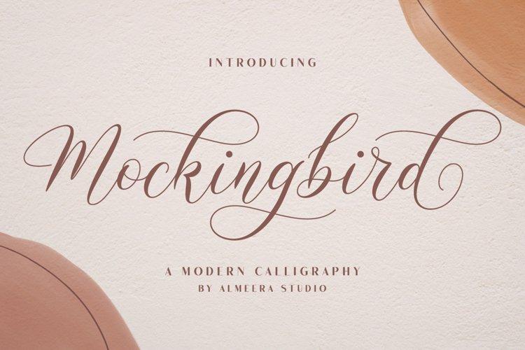 Mockingbird   Modern Calligraphy example image 1