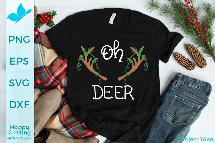 Oh Deer - A Hand Drawn Christmas File example image 1