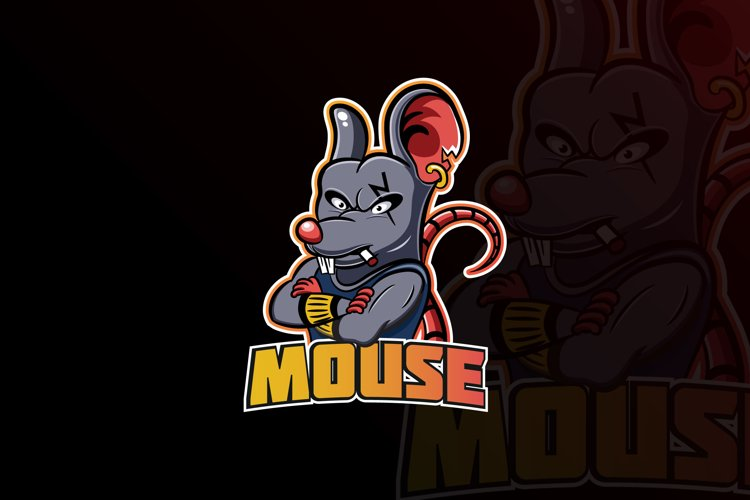 Mouse Mascot & eSports Gaming Logo example image 1