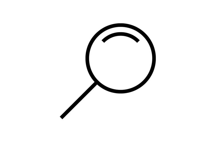 magnifier glass symbol example image 1