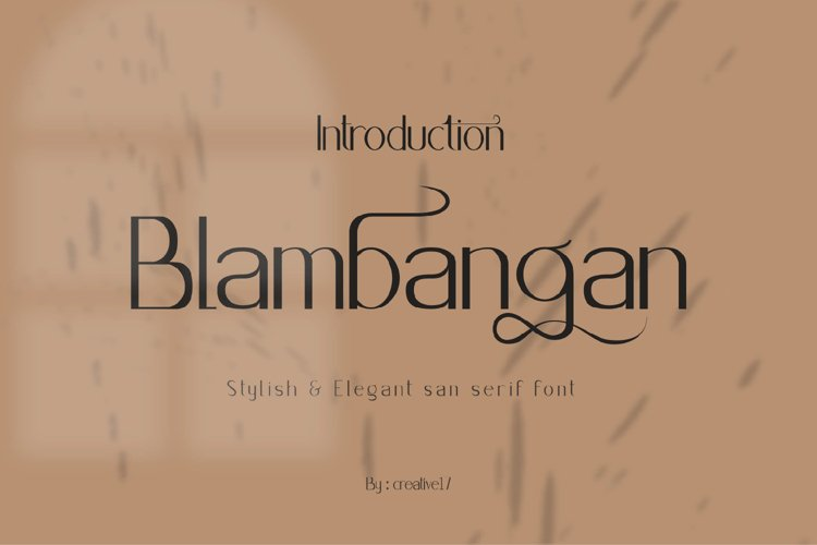 Blambangan Font example image 1