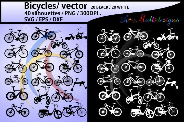 bicycle silhouette svg / Bicycles / bicycle / bicycle riders example image 1