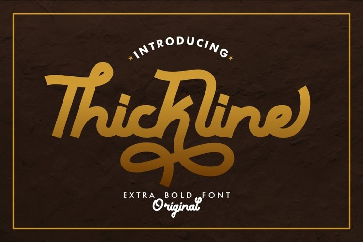 Thickline - Classic Bold Font example image 1