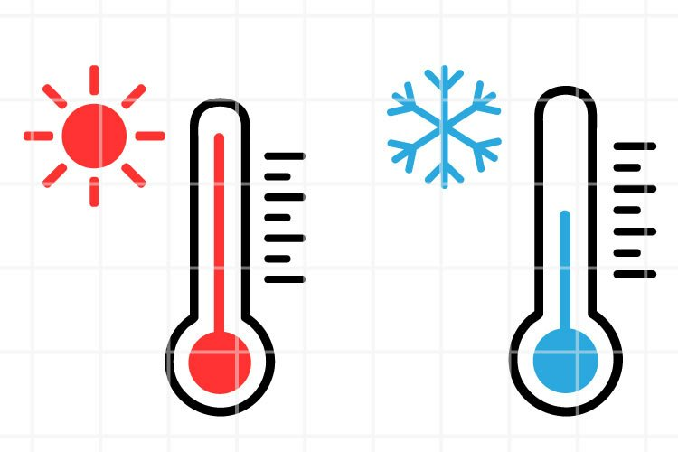 Thermometer SVG. Temperature cut file. Weather illustration. example image 1