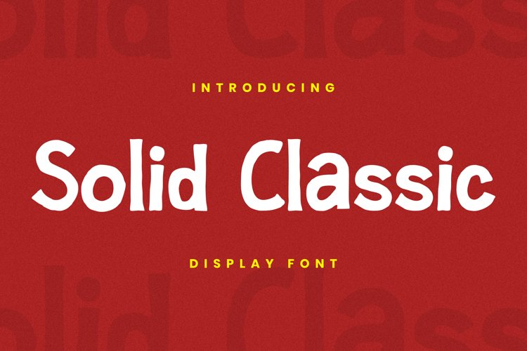 Solid Classic Font example image 1