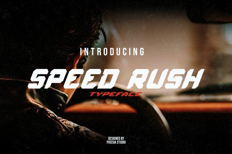 Speed Rush - A Car Racing Display Font example image 1