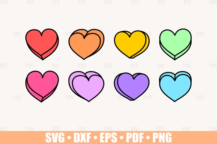 Blank Valentine Candy Hearts SVG files for Cricut