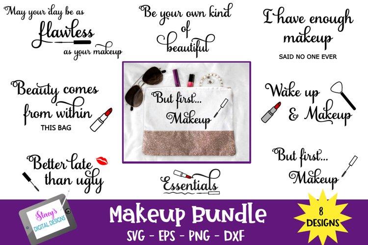 Makeup Bundle - 8 Makeup Bag SVG Designs example image 1