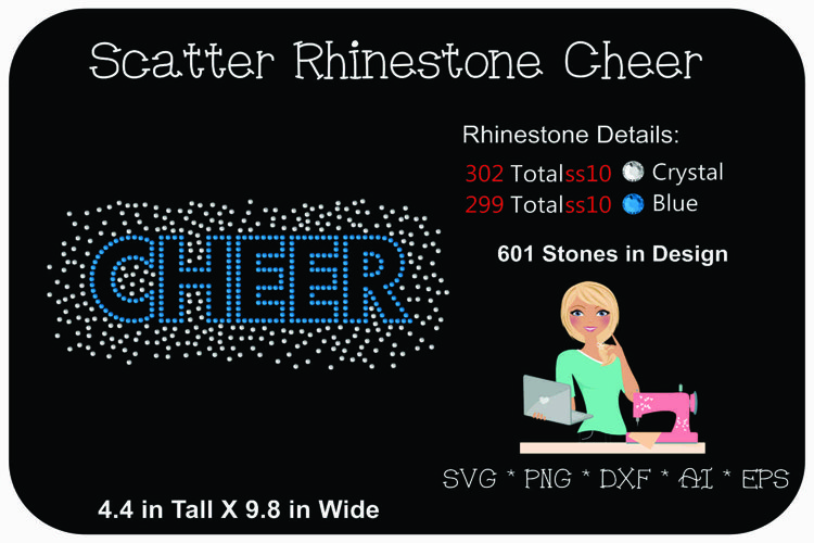 Cheer Rhinestone Template | Rhinestone SVG | Cheer SVG