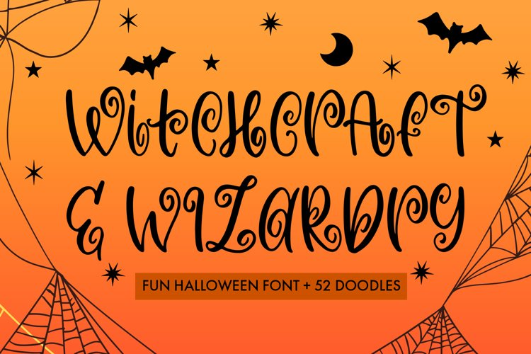 Witchcraft and Wizardry A Fun Halloween Font With Doodles example image 1