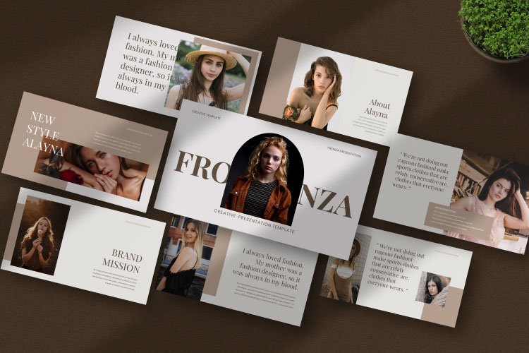 Fronza Powerpoint Template example image 1