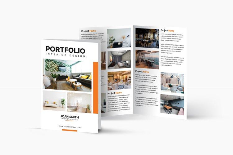 Interior Design bifold Brochure | Multipurpose Brochure example image 1