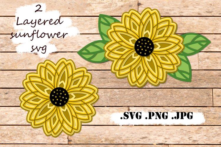 Sunflower Layered SVG - 3 SVG Mandala - Multilayer SVG example image 1