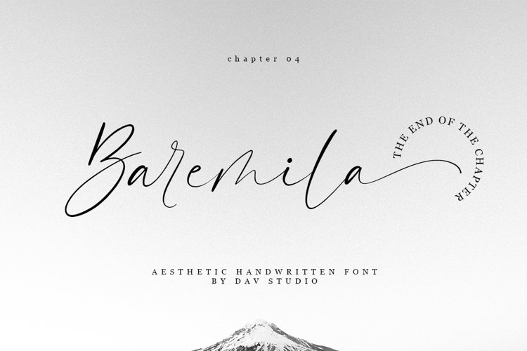 Baremila - Aesthetic Handwritten Font example image 1