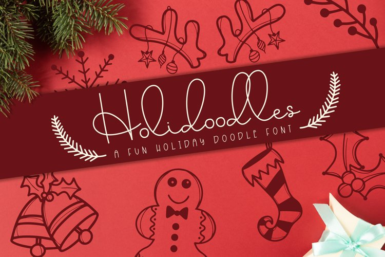 Holidoodles, A Holiday Doodle Font example image 1