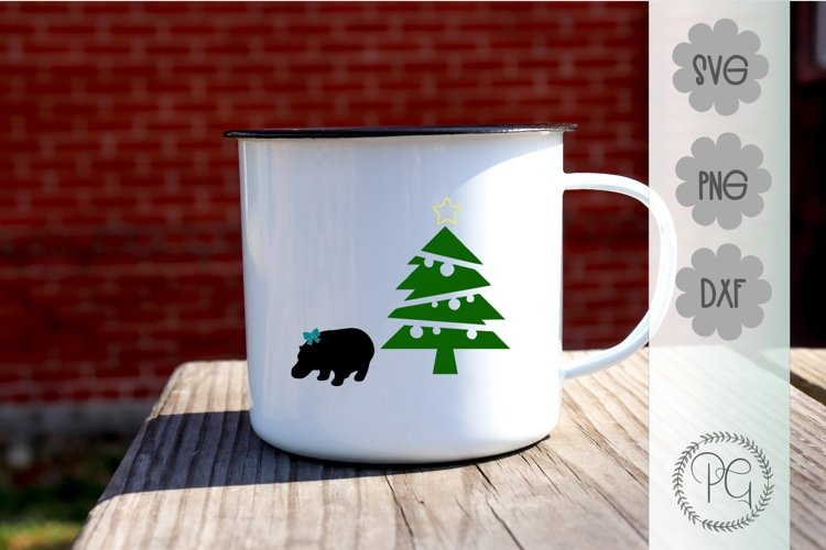 Hippo For Christmas SVG PNG DXF