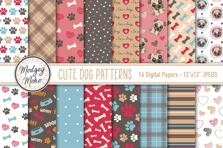 Puppy Dog Printable Papers