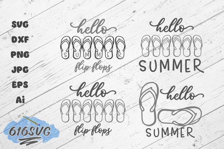 Hello Summer Hello Flip Flops Laser Design example image 1