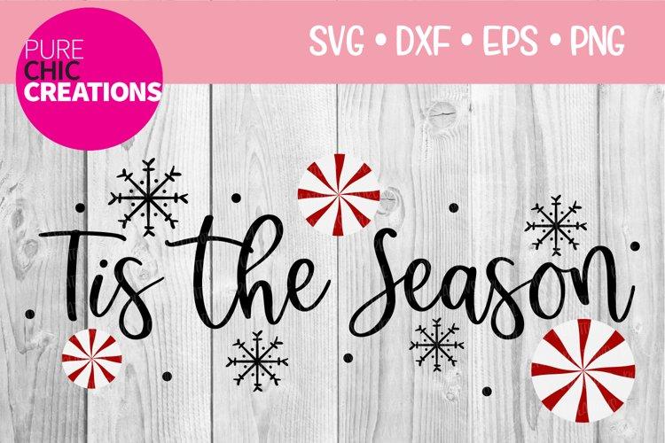 Christmas SVG Tis The Season SVG DXF PNG EPS example image 1
