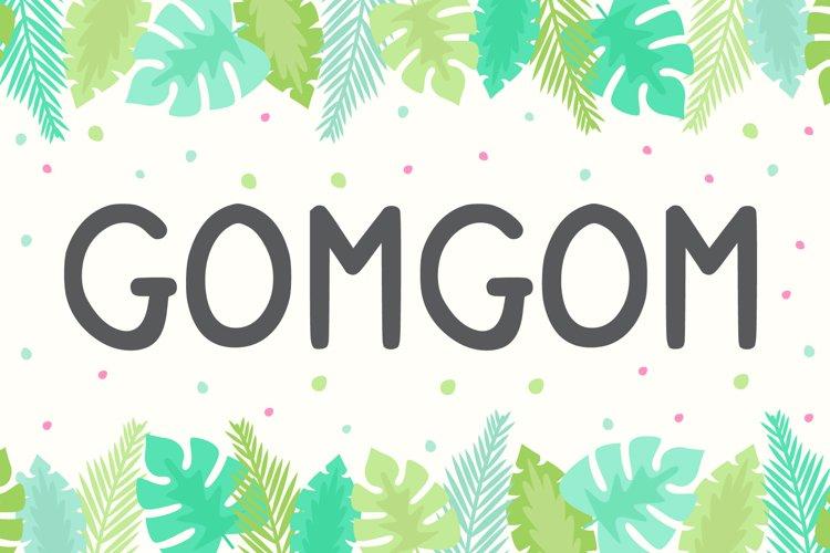 Gomgom | Handwriting Font example image 1