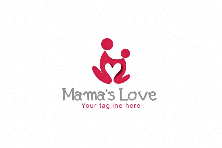 Mamas Care - Human Icon Logo Template example image 1