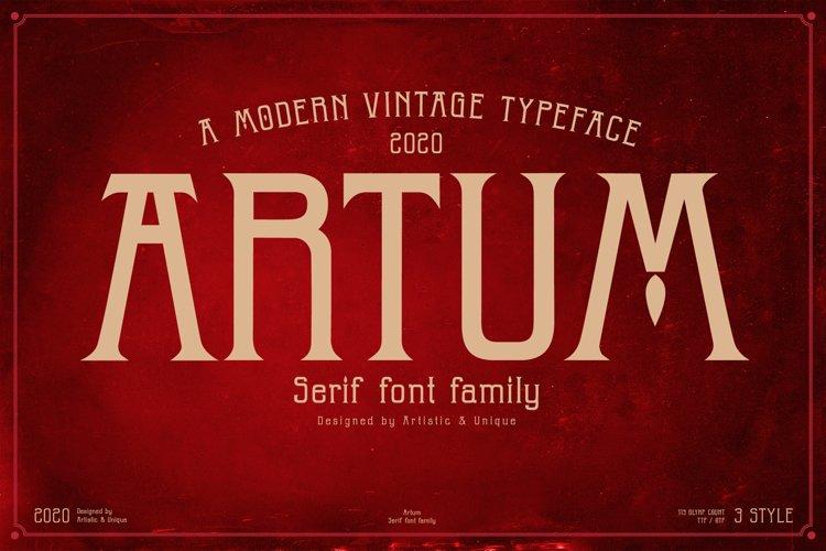 Artum - Serif font family example image 1