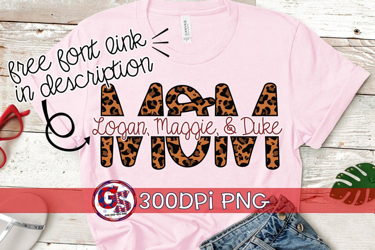 Leopard Print Split Mom PNG for Sublimation | Mothers Day P