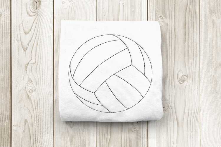 Linework Volleyball Embroidery Design
