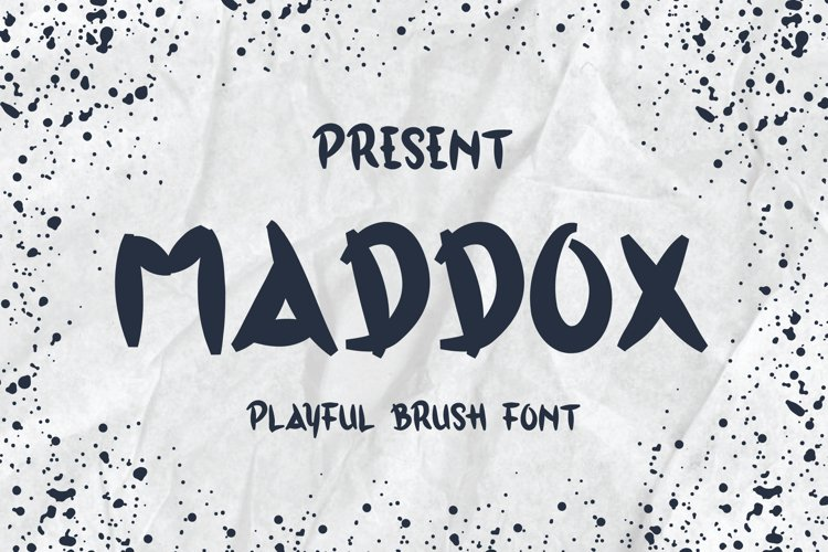 Maddox Typeface - A Playful Brush Font example image 1