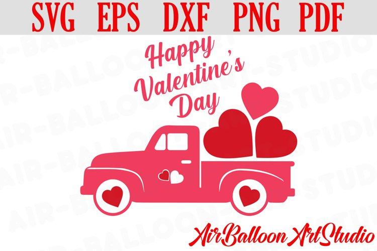 Valentines Day Truck Svg Valentines SVG Love Svg Valentine example image 1
