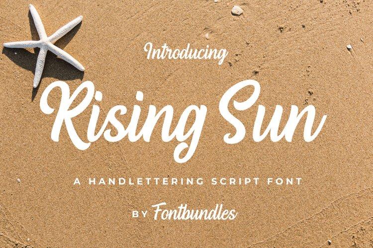 Web Font Rising Sun example image 1