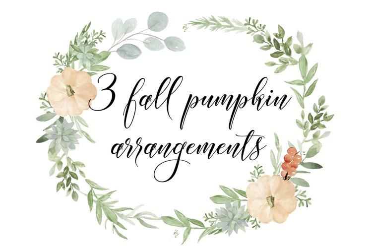 Pumpkin & Succulent arrangements Clip Art PNG