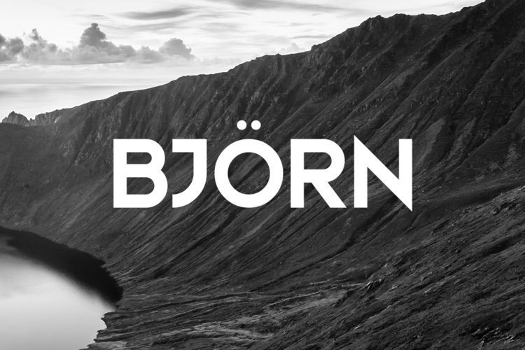 Bjorn Typeface example image 1