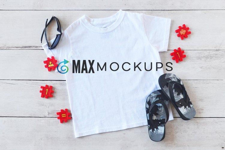 Kids t-shirt Mockup, back to school, summer, abc flatlay