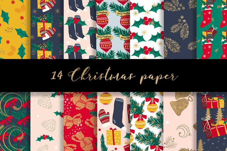 Christmas digital paper pattern example image 1