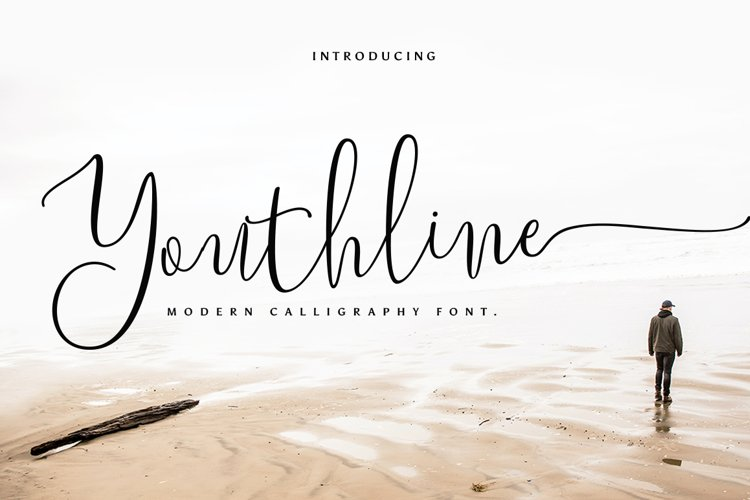 Youthline Modern Script Font example image 1
