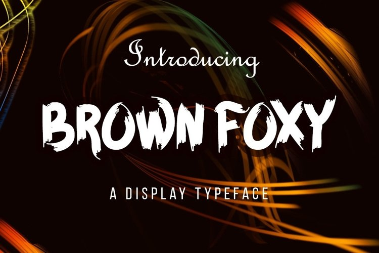 Web Font BROWN FOXY Typeface example image 1