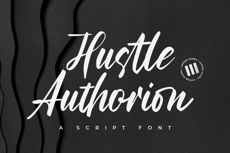 Hustle Authorion- A Script Font example image 1