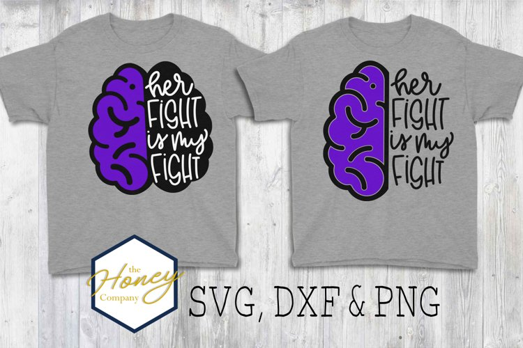 Epilepsy Awareness Seizure SVG PNG DXF Cutting File Fight example image 1