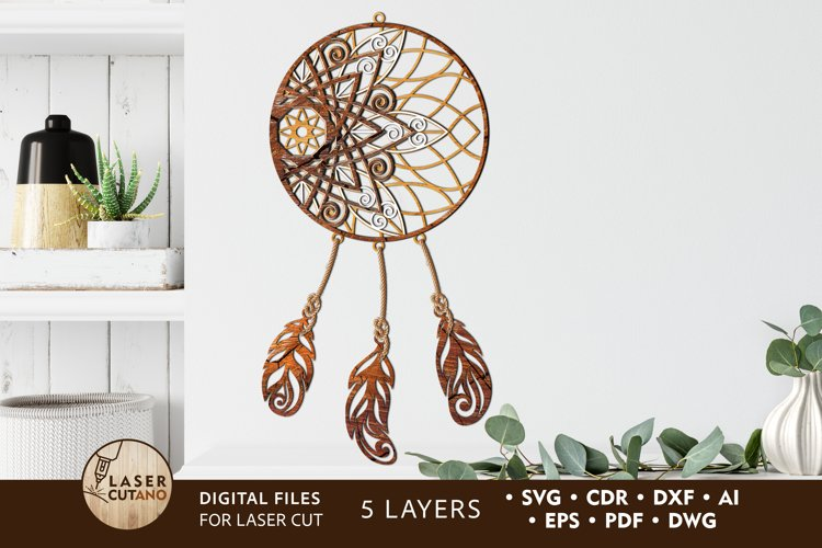 Multilayer Cut File DREAM CATCHER for Laser Cut, Cricut, CNC