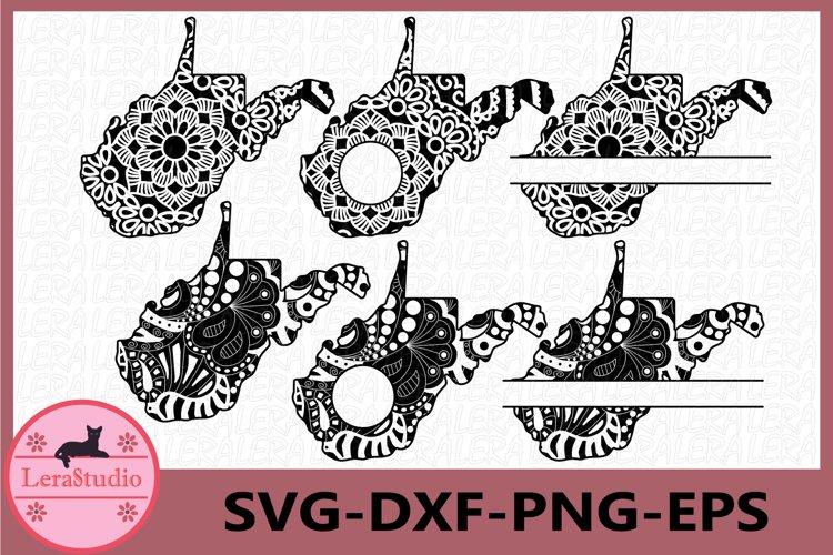 West Virginia State SVG, West Virginia, Mandala SVG example image 1
